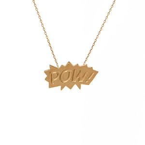 Edge Only POW Pendant in 18ct gold vermeil