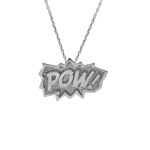 POW Pendant Extra Large in Sterling Silver