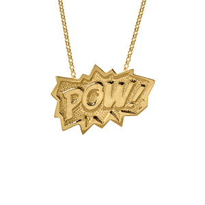 Edge Only POW Pendant XL Long in 18ct gold vermeil