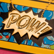 Edge Only POW Pendant Large in 18ct gold vermeil