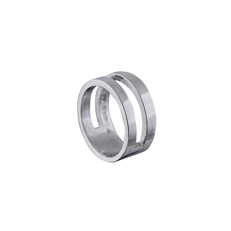 Edge Only Parallel Ring in Sterling Silver