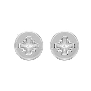 Phillips-head Screw Earrings in Sterling Silver