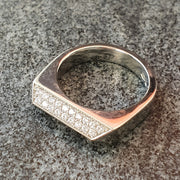 Platinum Diamond Rooftop Ring by Edge Only