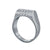 Edge Only Platinum High Top Ring with Diamonds