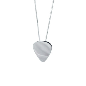 Men's Plectrum Pendant in Sterling Silver