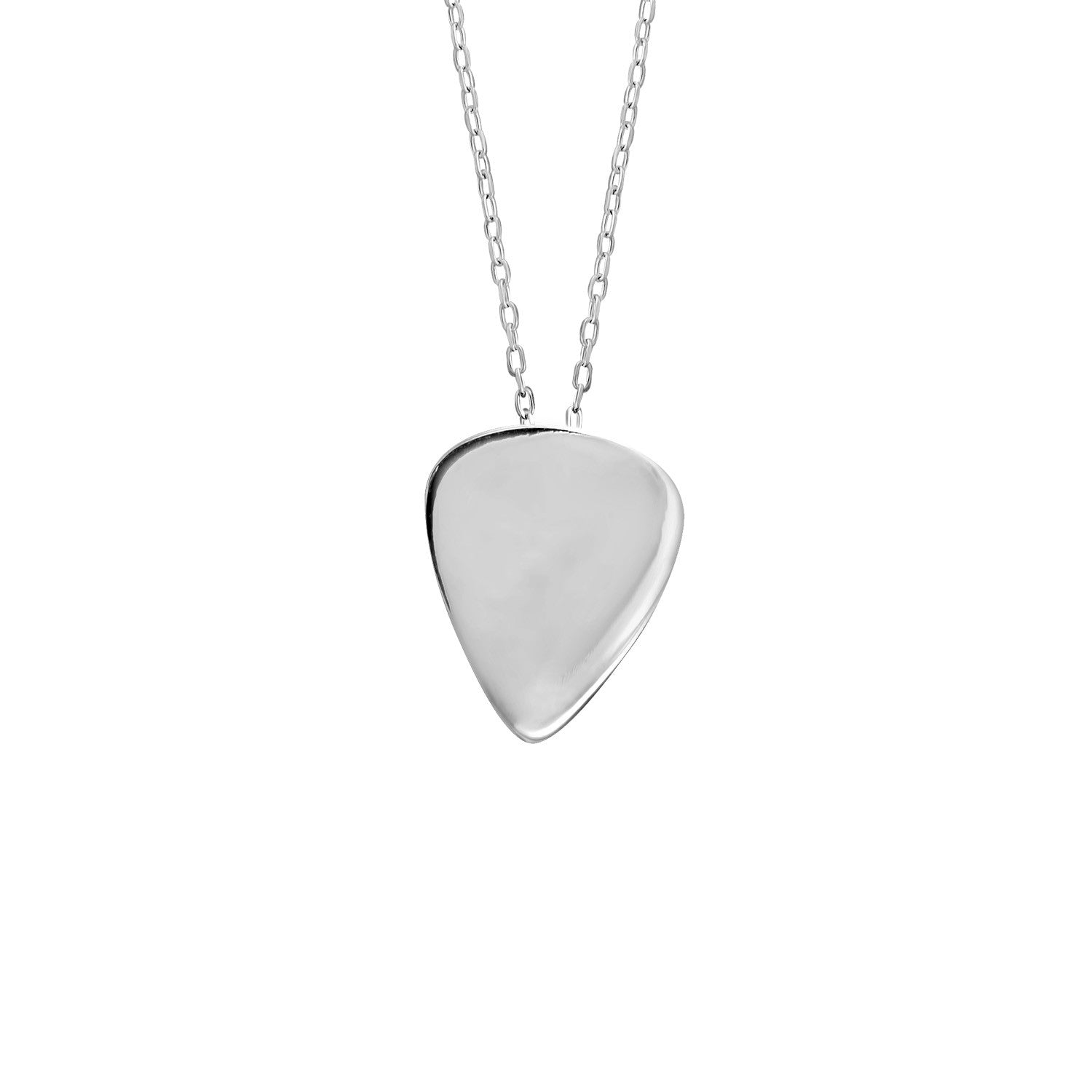Plectrum Pendant in Sterling Silver