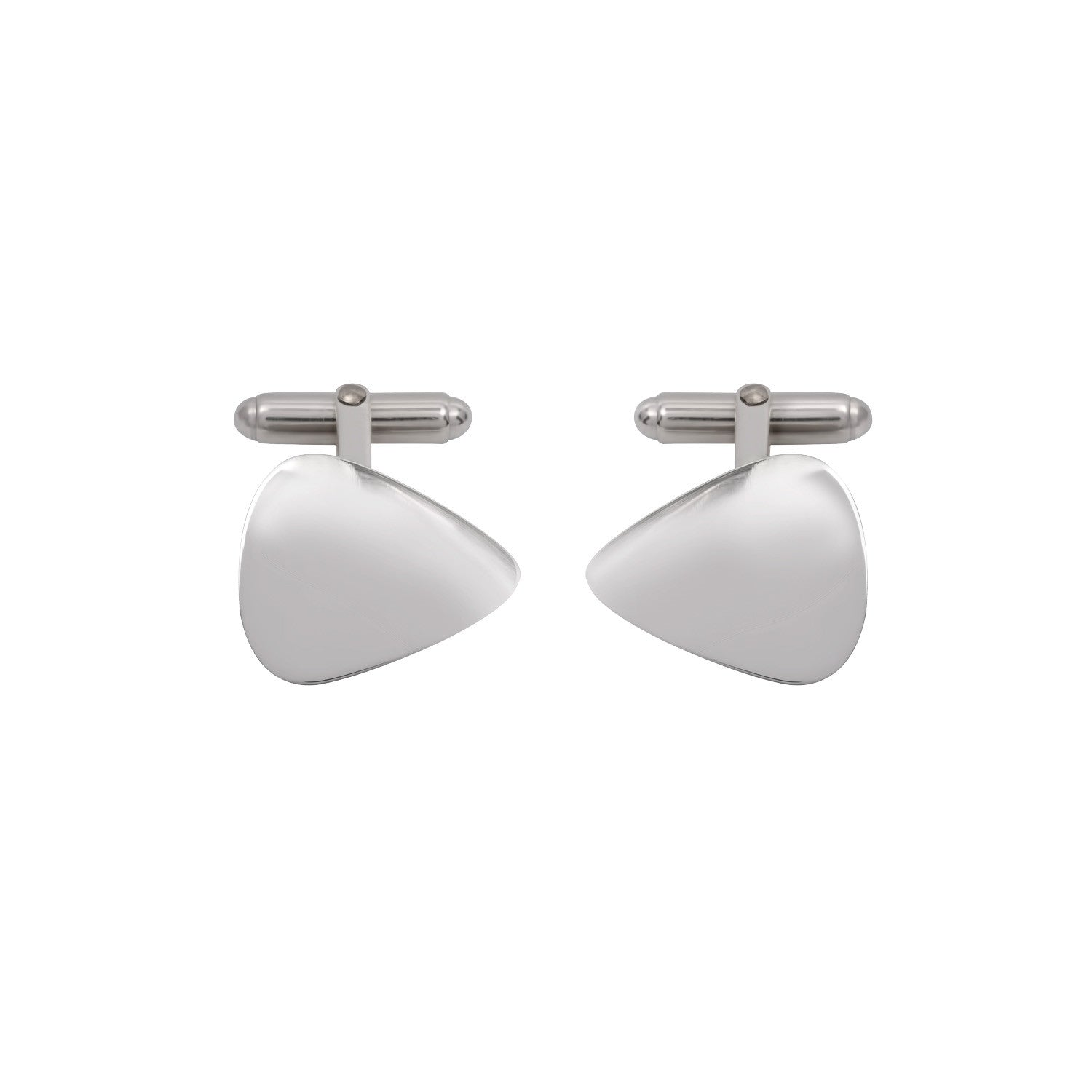 Plectrum Cufflinks in Sterling Silver