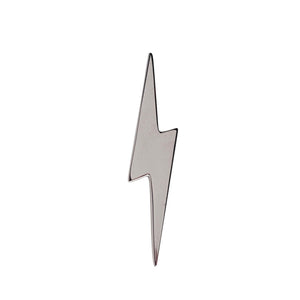 Edge Only Pointed Lightning Bolt Lapel Pin in Sterling Silver