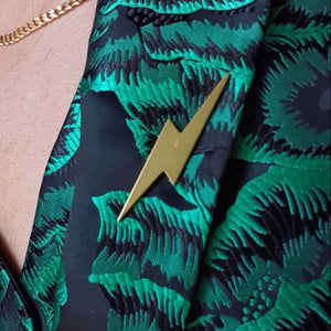 Edge Only Pointed Lightning Bolt Pin in 18ct gold vermeil