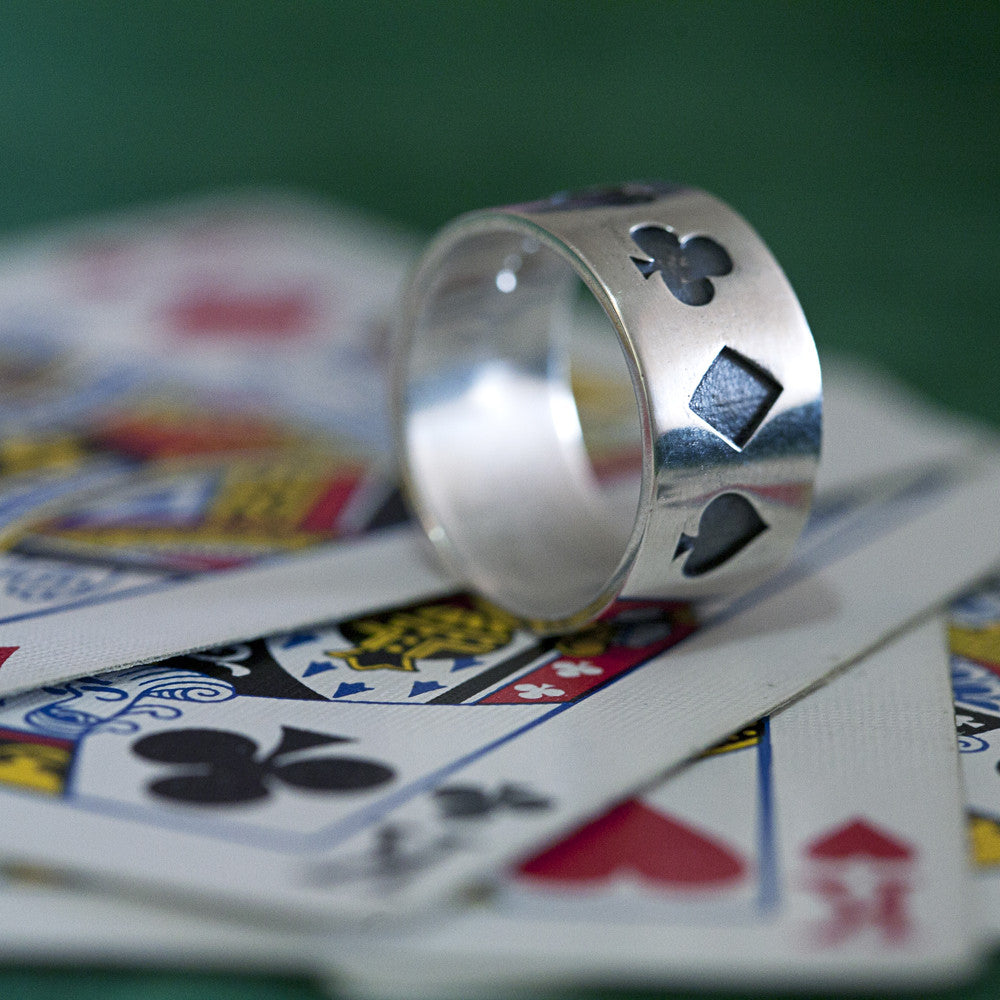 Poker Ring Oxidised - Men's