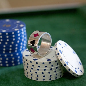 Enamelled Poker Ring