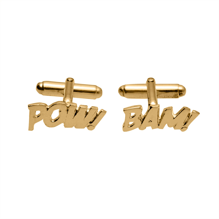 Edge Only POW and BAM Cufflinks in sterling silver