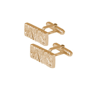 Edge Only Rugged Cufflinks in gold vermeil