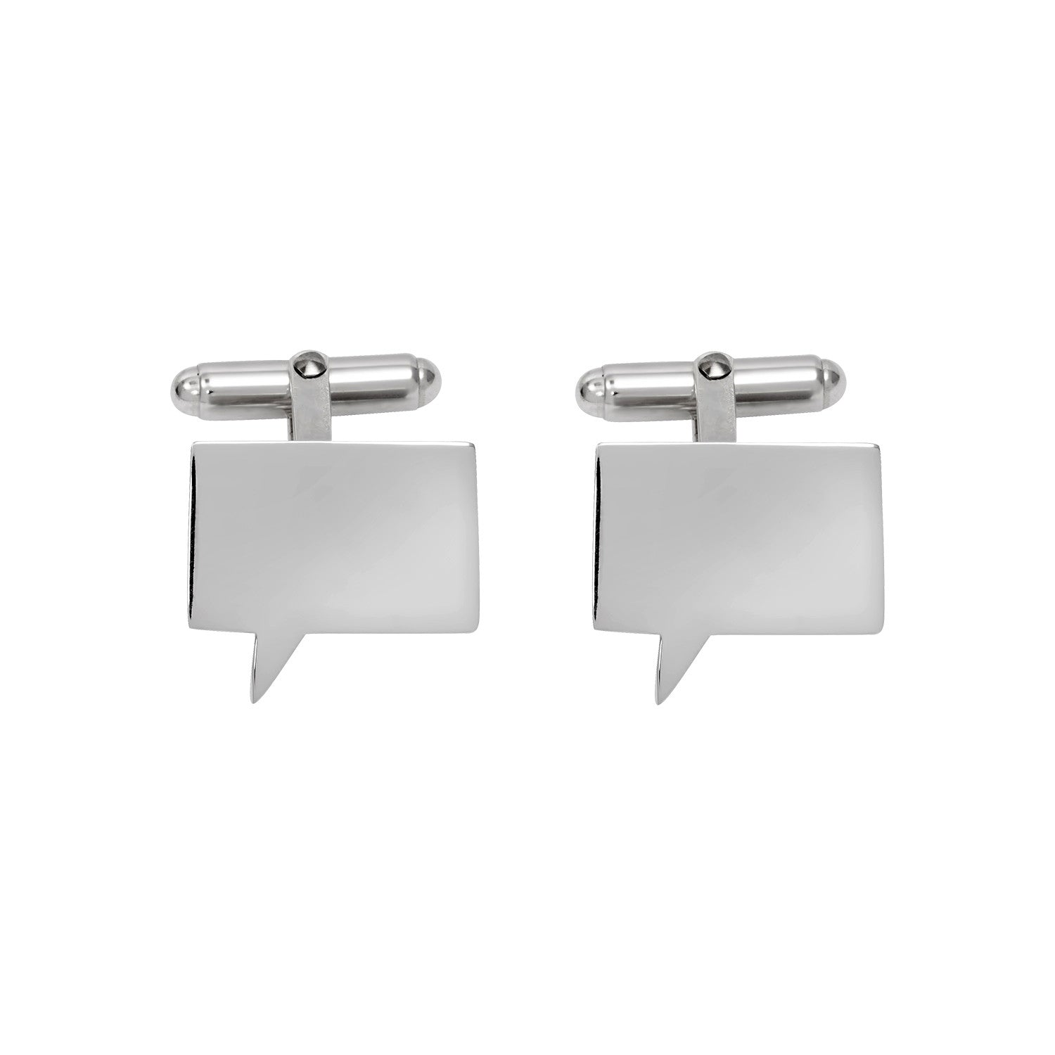 Speech Bubble Cufflinks in Sterling Silver