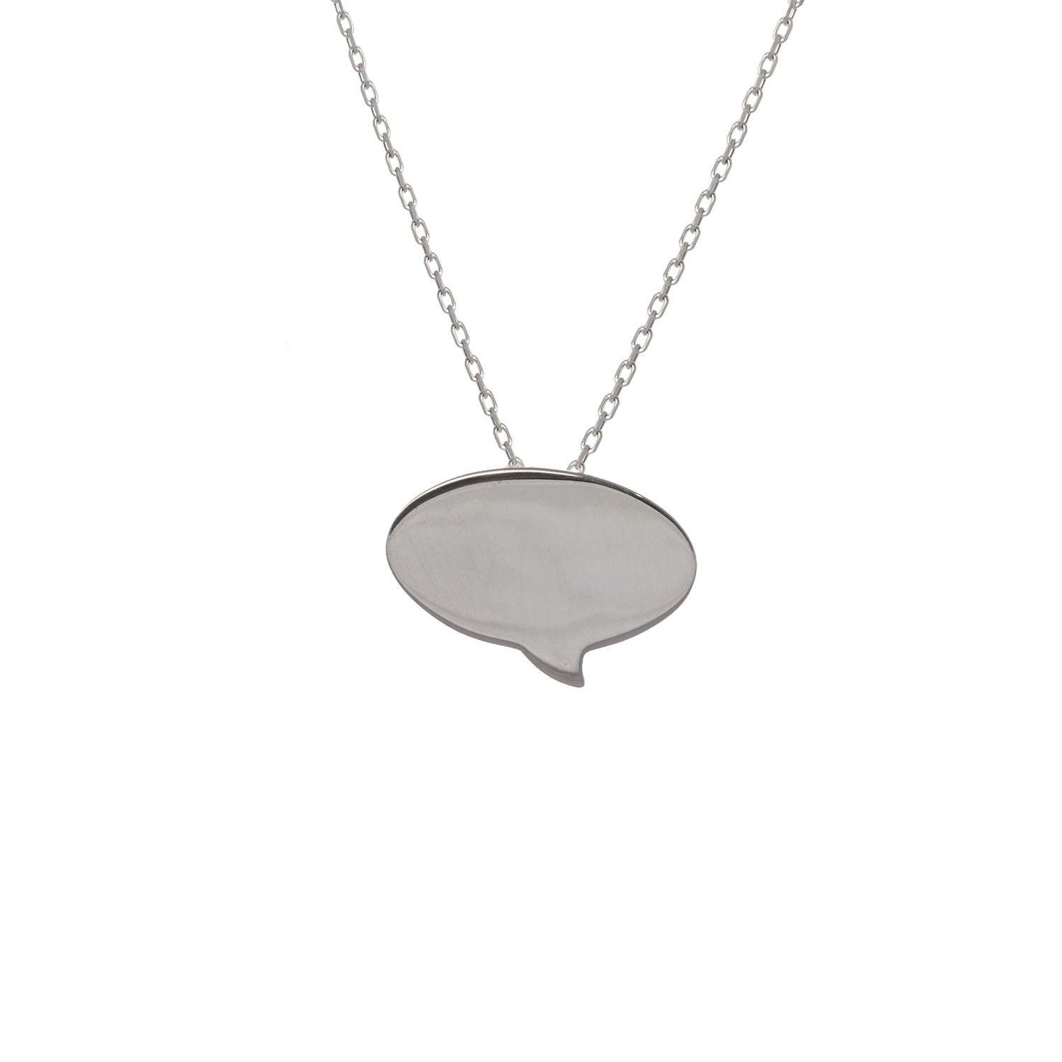 Speech Bubble Pendant in sterling silver