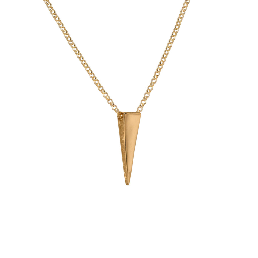 Edge Only Spike Pendant in 18ct gold vermeil