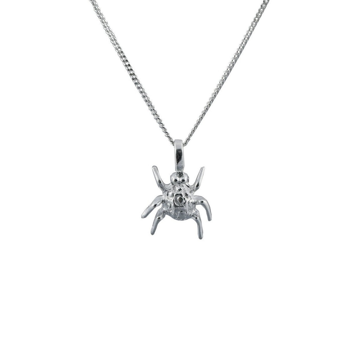Edge Only Spotted Bug Pendant in Sterling Silver