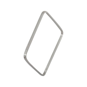 Edge Only Square Bangle in sterling silver