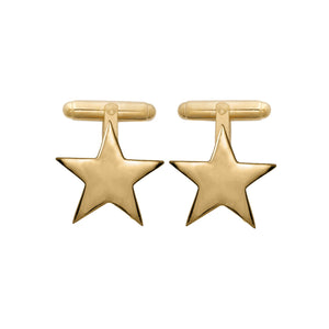 Edge Only Star Cufflinks in 18ct gold vermeil