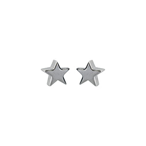 3D Star Earrings in Sterling Silver