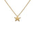 Edge Only Star Pendant in 18ct gold vermeil