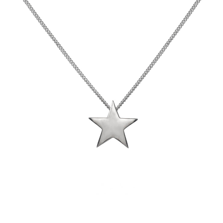 Edge Only Star Pendant in sterling silver