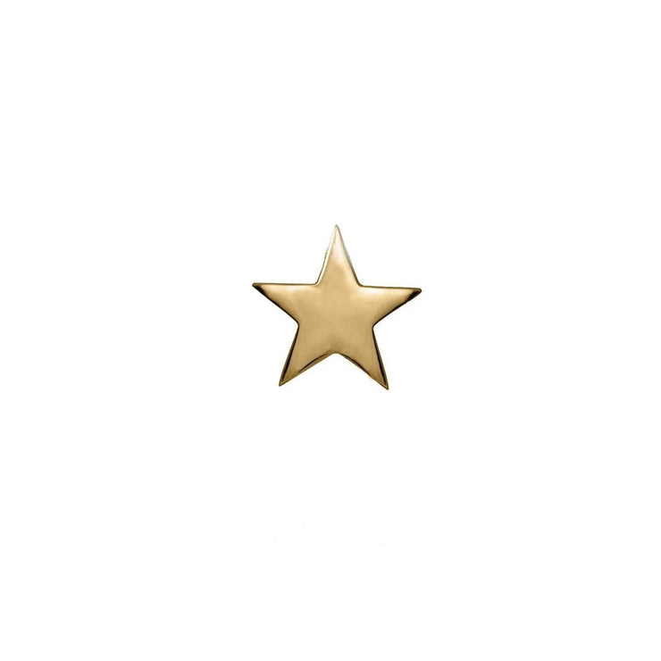 Edge Only Star Pin in 18ct gold vermeil