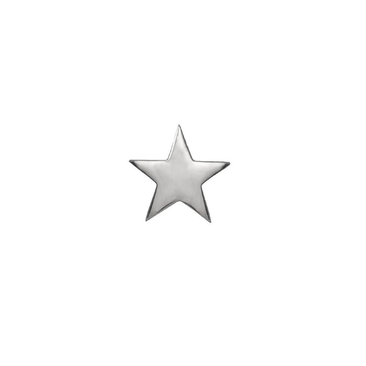 Edge Only Star Pin in sterling silver