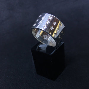 Edge Only Galaxy Ring in sterling silver