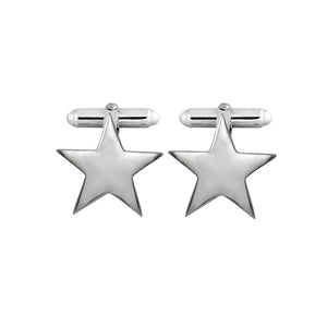 Edge Only Star Cufflinks in sterling silver