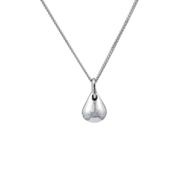 Edge Only Teardrop Pendant Large in sterling silver