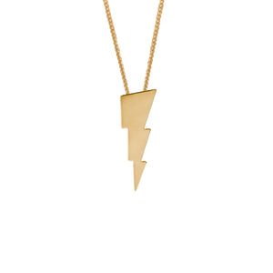 Edge Only Triple Bolt Pendant in 18ct gold vermeil