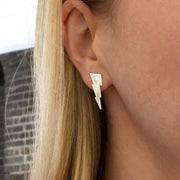 Triple Bolt Earring in sterling silver