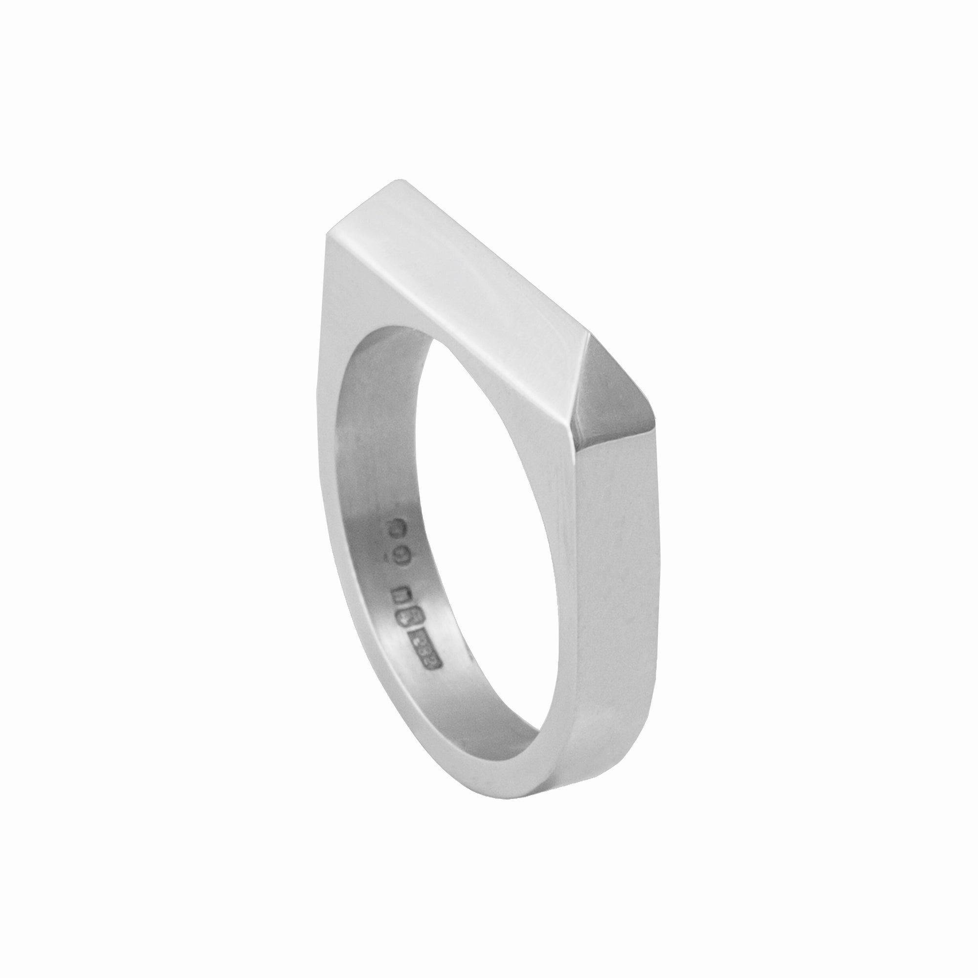 Rooftop Ring - 14ct White Gold