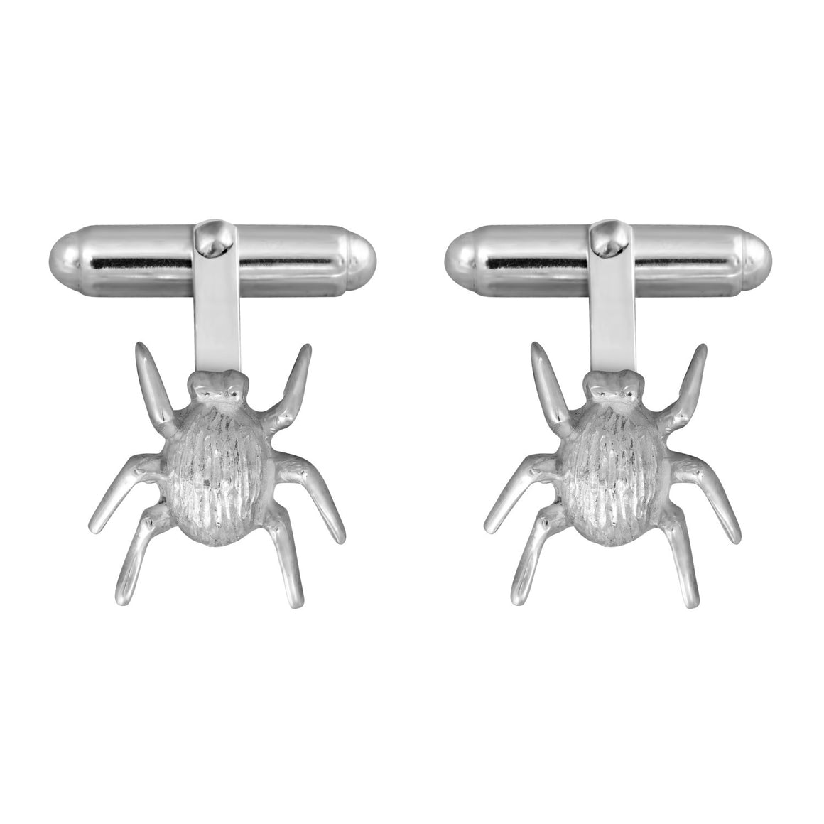 Edge Only Striped Bug Cufflinks in Sterling Silver