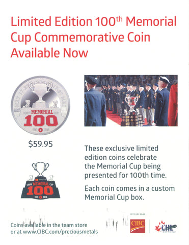 100th Mastercard Memorial Cup Commemorative Coin