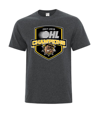 2018 OHL Champions T-Shirt Shield - Charcoal