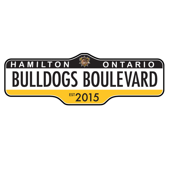 Hamilton Bulldogs Street Sign