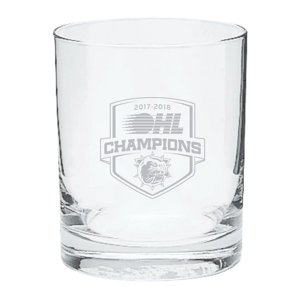 2018 OHL Champions Rocks Glass