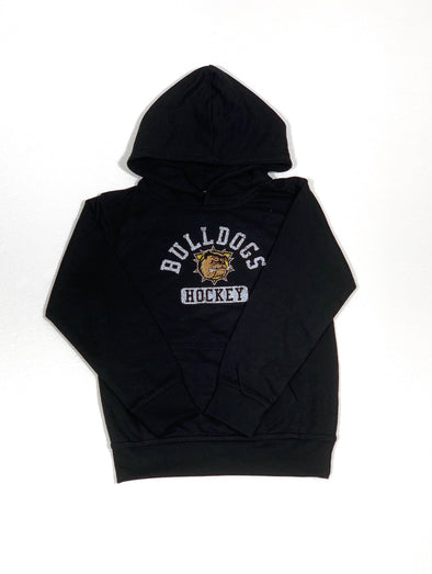 2019 Bulldogs Hockey Youth Hoody (Black)