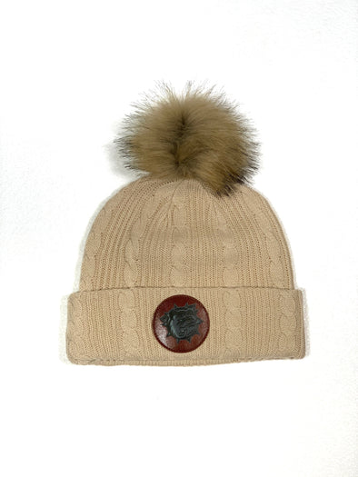 2019 Faux Fur Ladies Pom Pom Toque