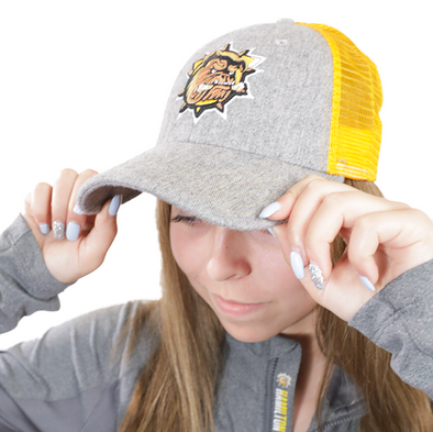 Primary Mesh Snapback - Grey / Athletic Gold