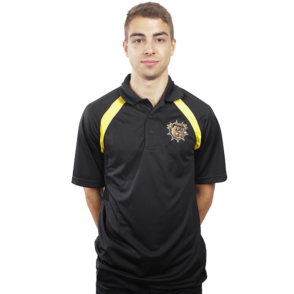 Golf Shirt with Yellow stripes