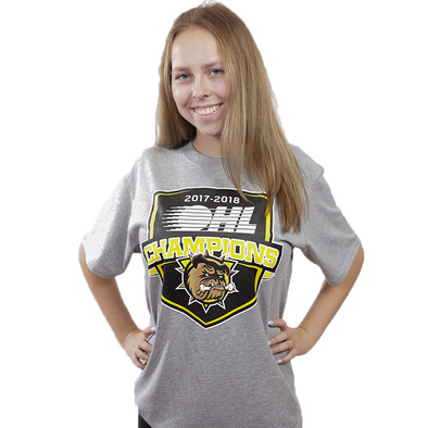 2018 OHL Champions T-Shirt Shield - Light Grey