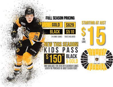 GOLD 2018-19 Hamilton Bulldogs Season Tickets