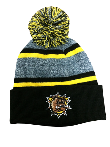Striped Toque (with Pom Pom)