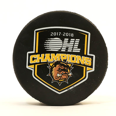 2018 OHL Champions puck