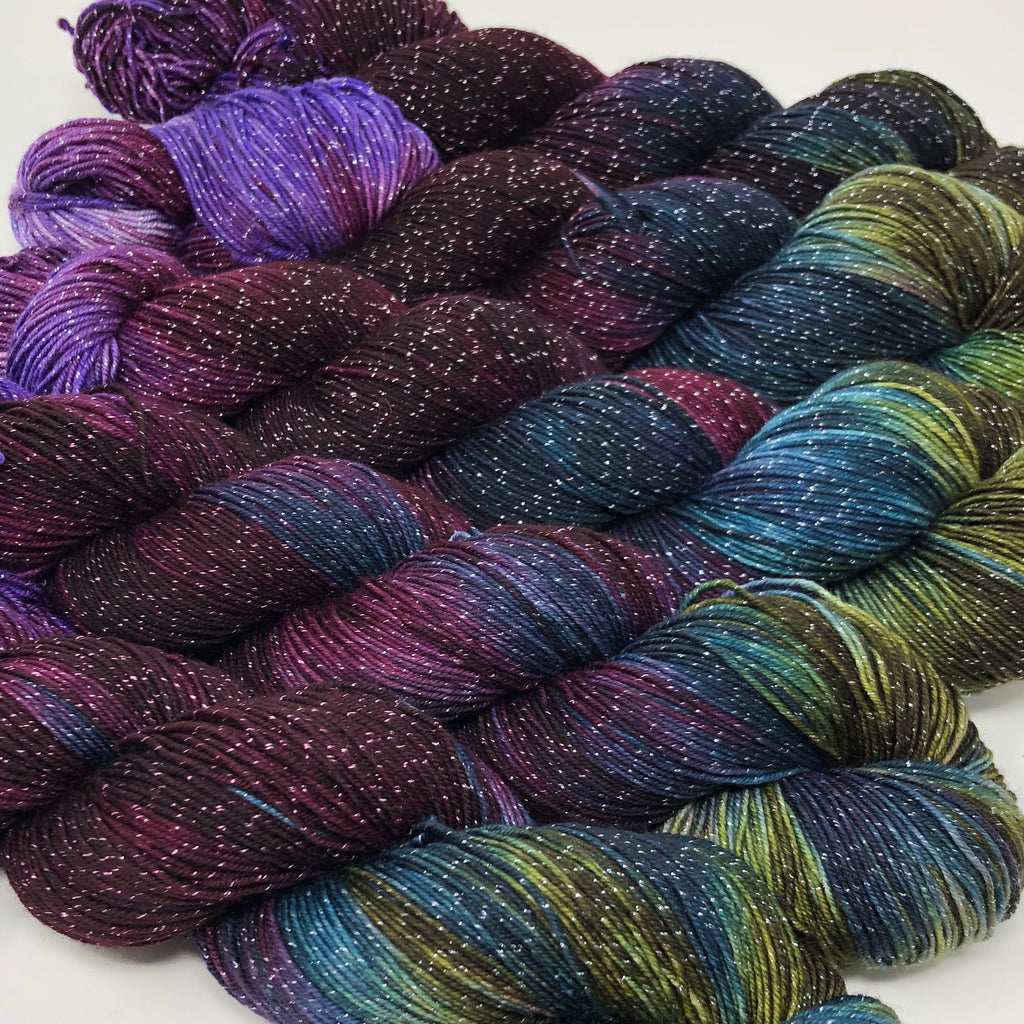 Figment sparkly sock yarn Kodiak