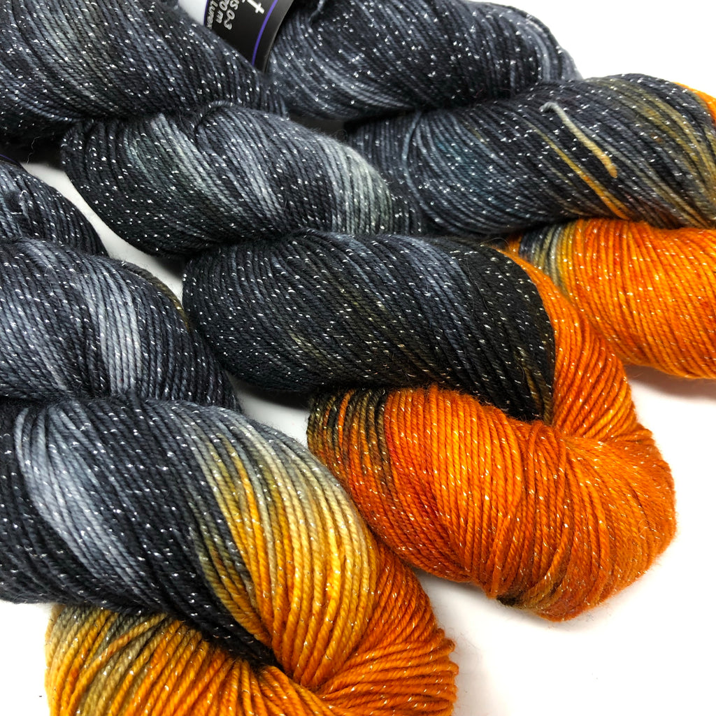 Figment sparkly sock yarn Black Hills
