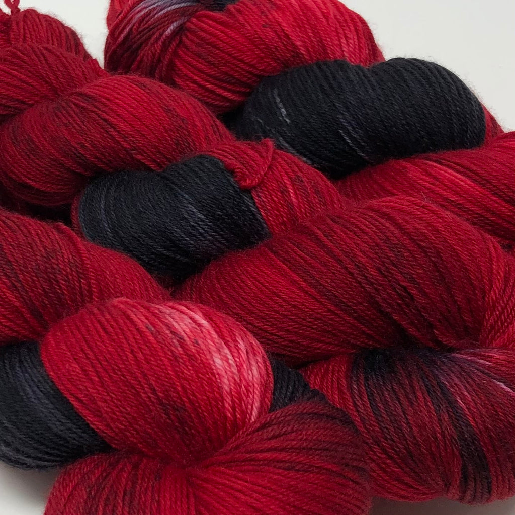 Good Juju Sock yarn Cardinal